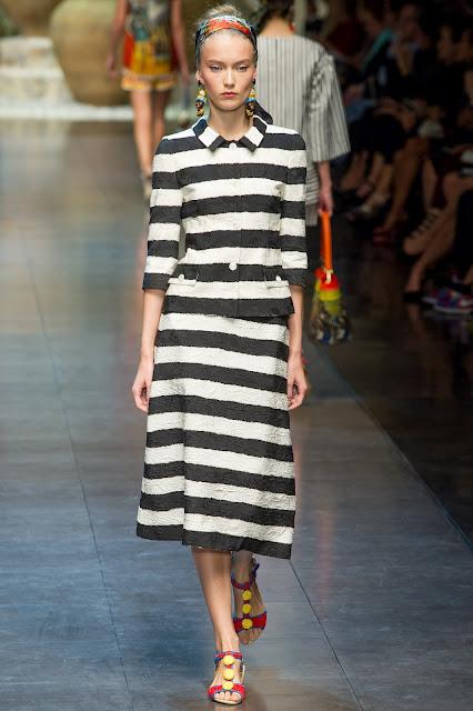 Milan Fashion Week S/S 2013: Katya Riabinkina in Dolce & Gabbana show