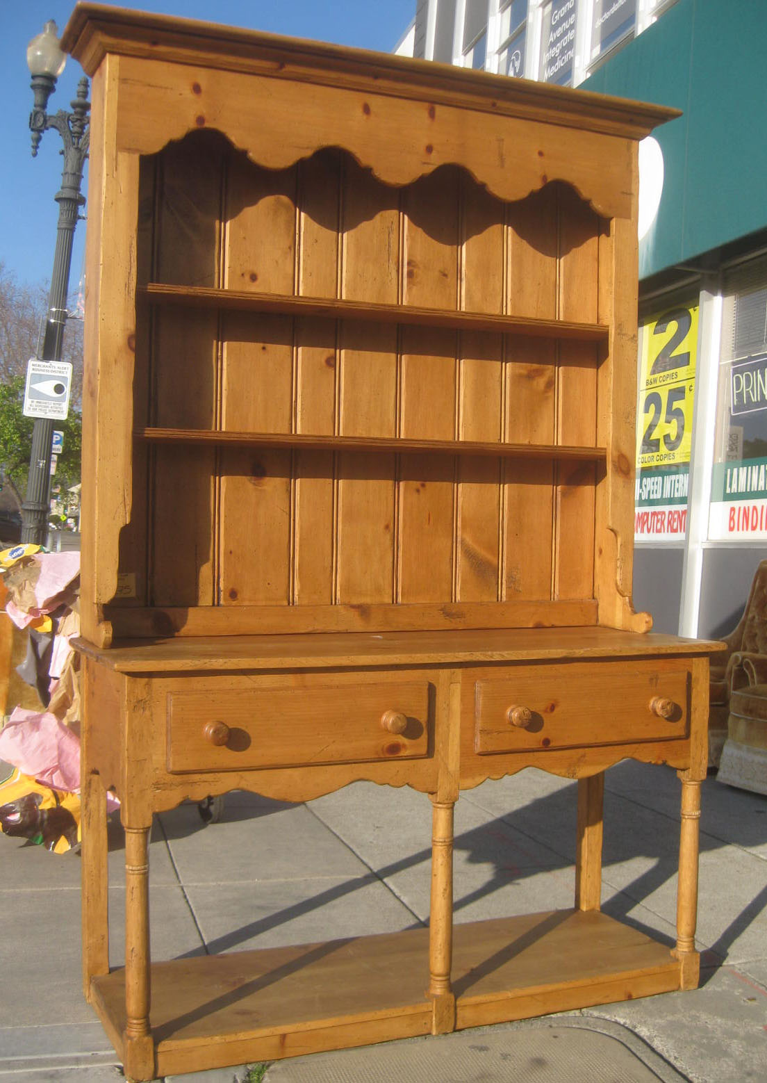 UHURU FURNITURE & COLLECTIBLES SOLD Pine Hutch $275