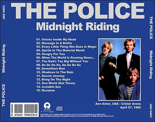 "THE POLICE una leyenda viva: ""Midnight Riding"" The Police ..."