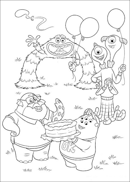 Monsters University Coloring Pages To Print