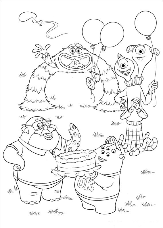 Monsters University Coloring Pages title=