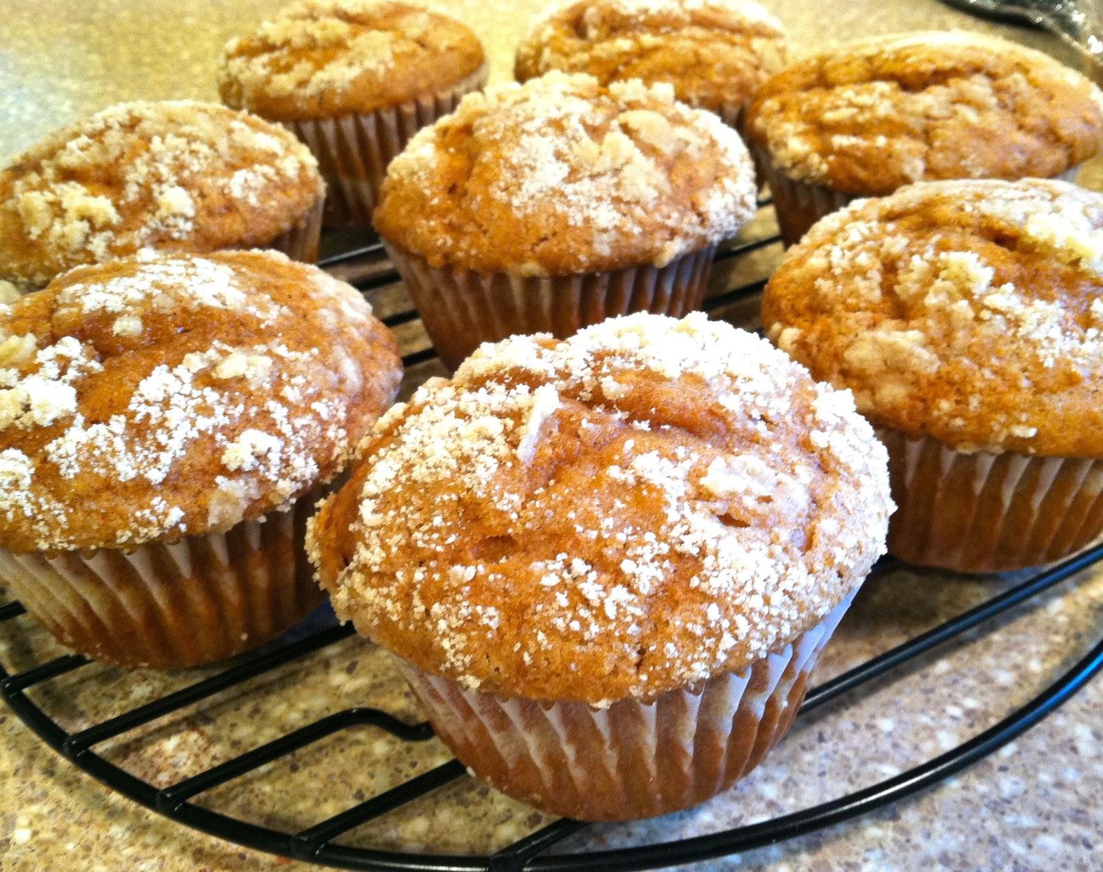 Delectably Mine: Pumpkin Streusel Muffins