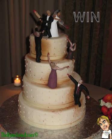 Funny Zombie Wedding Cake