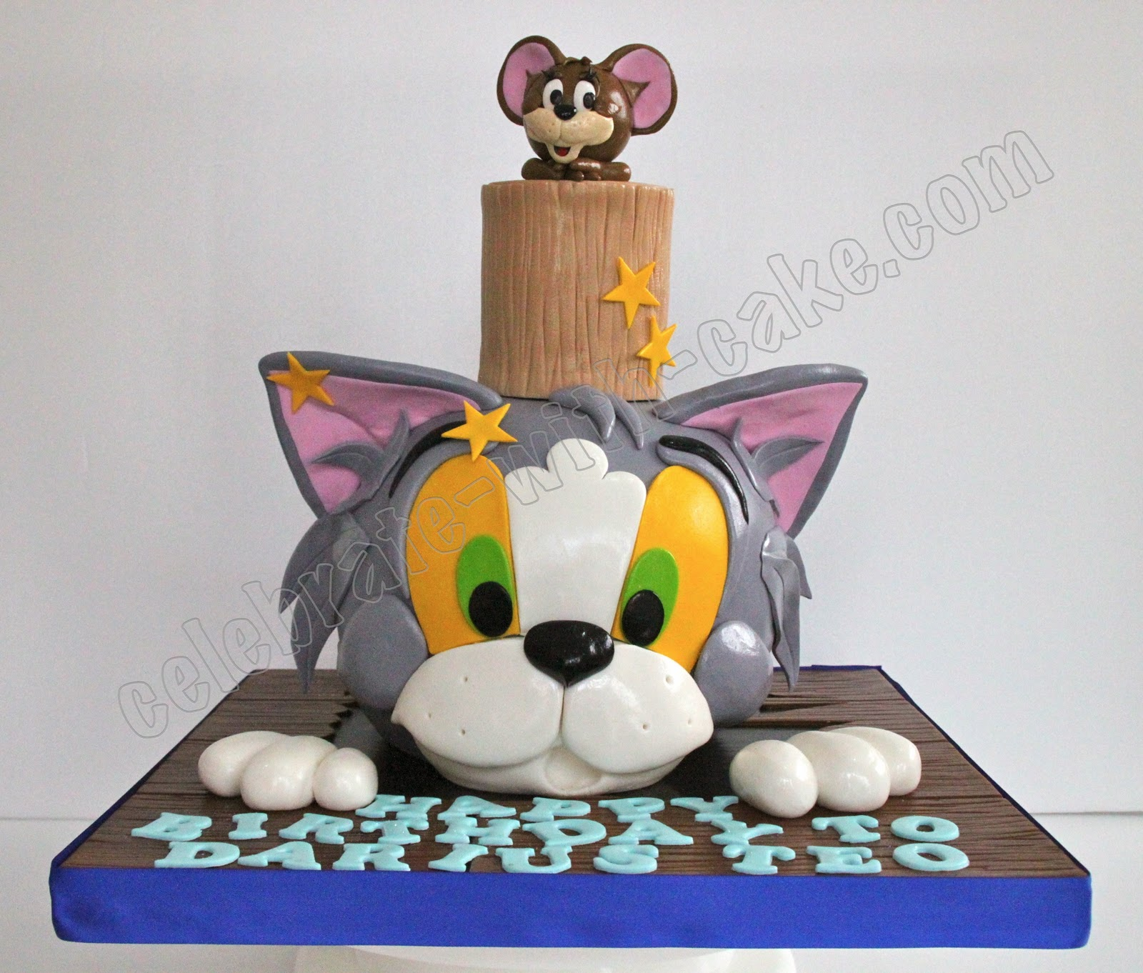 tom and jerry cat cake