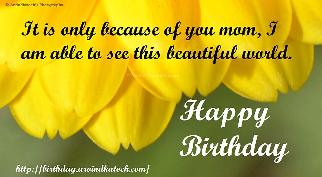 Beautiful Birthday Card for all Moms Mothers True Picture HD – Birthday Greetings for Mother