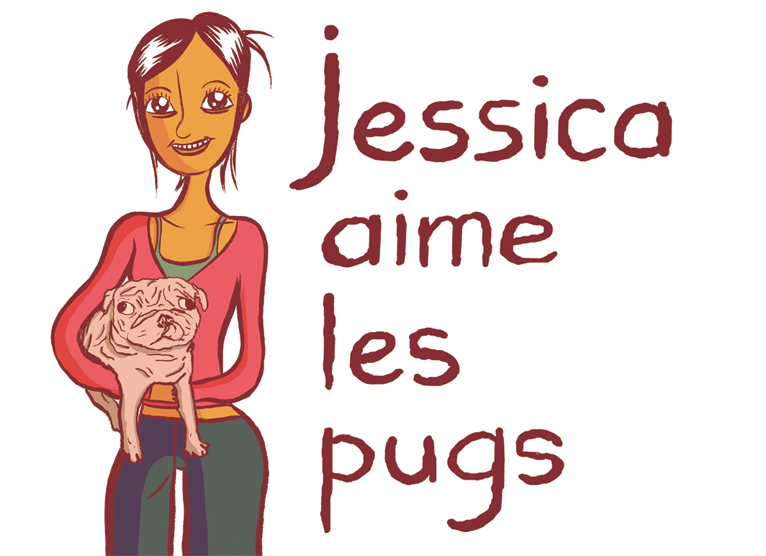 Jessica aime les pugs