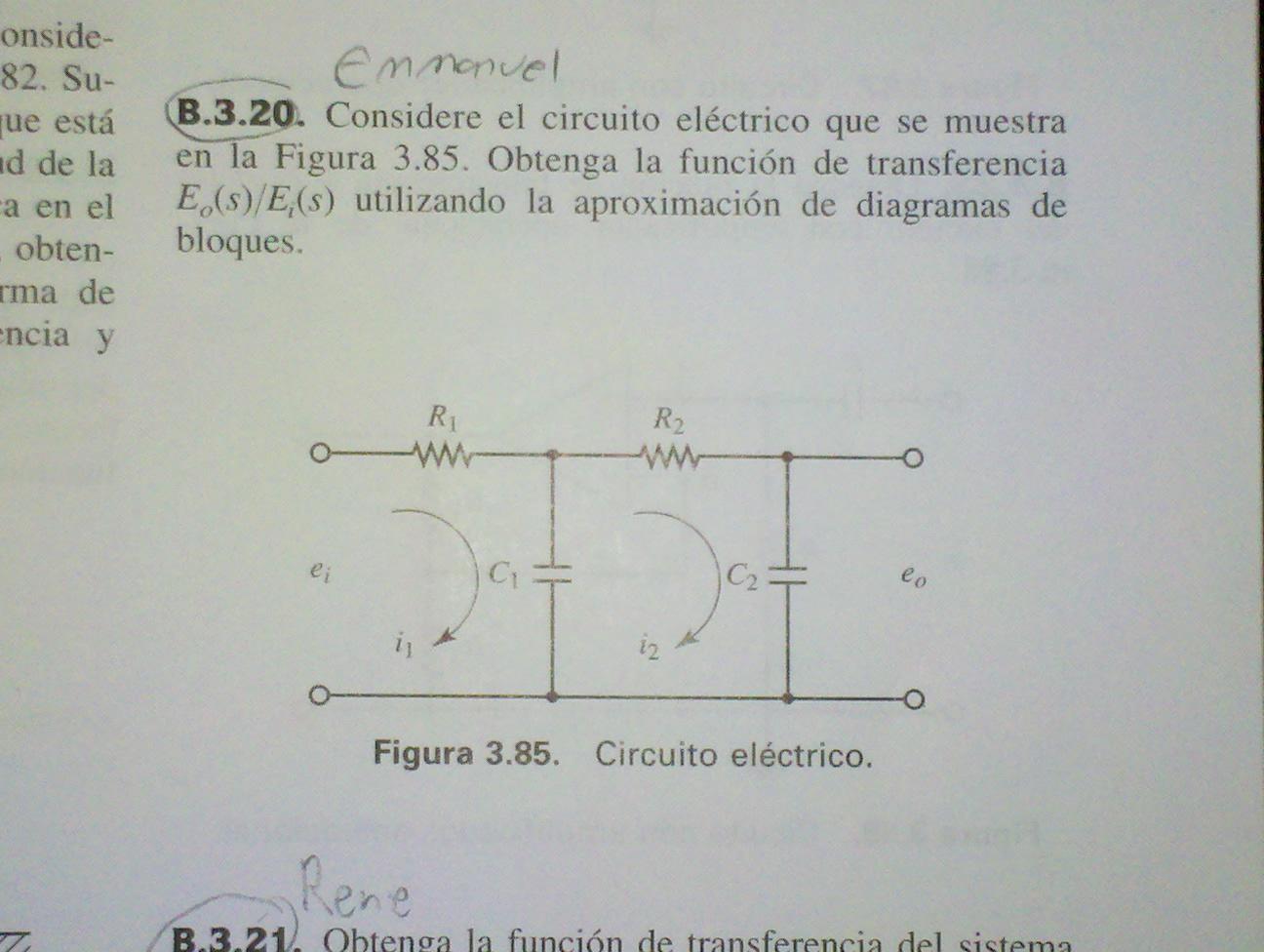 Circuito Electrico Simple Diagrama : Emmanuel garcía tarea función de transferencia y diagramas de