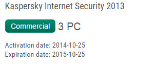 key kaspersky internet secutiry 2015 2014 2013 for 3pcs