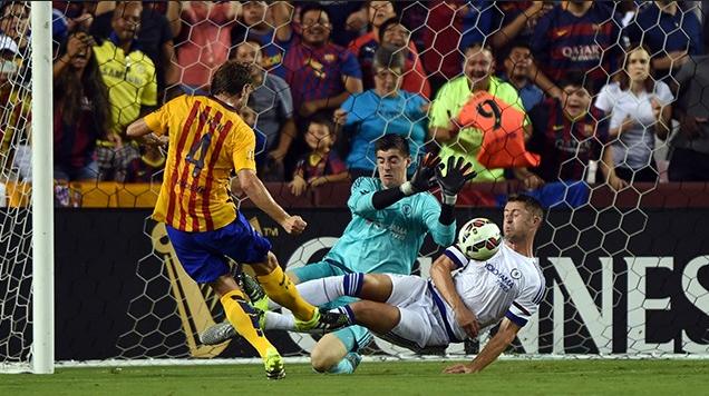 Cuplikan gol Celsea 2-2 Barcelona