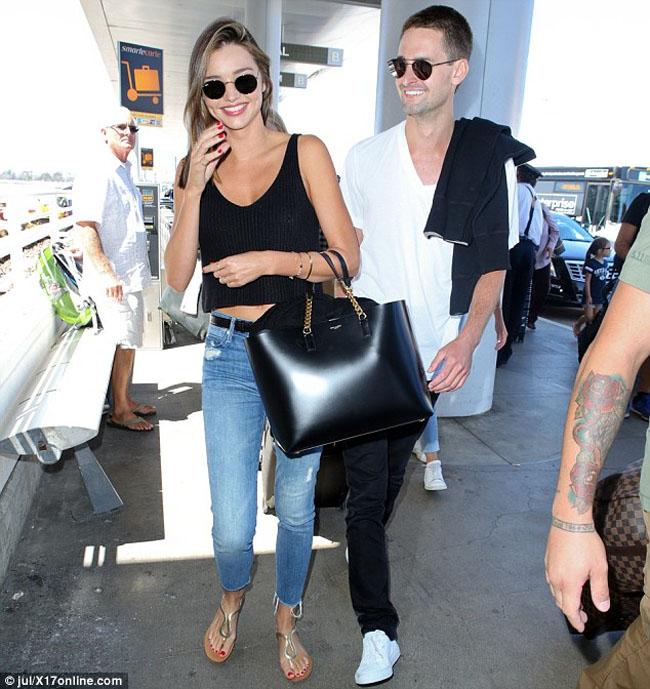 Miranda Kerr Evan Spiegel lax airport