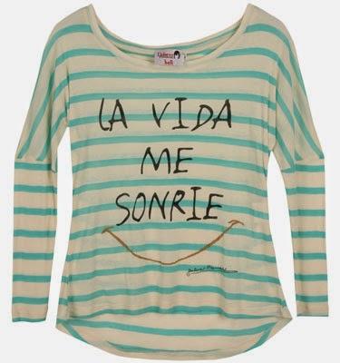 nuevas camisetas con mensajes Dolores Promesas La vida me sonríe