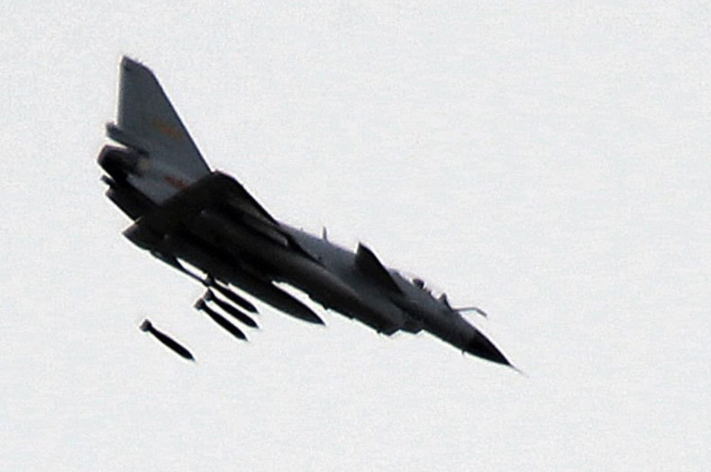 J-10 Vigorous Dragon Fighter Jet Displaying Ground Attack ...