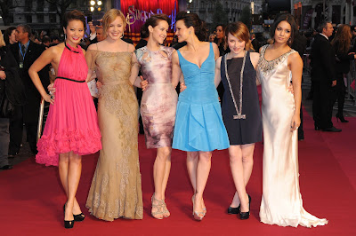 Jamie, Abbie, Jena, Carla, Emily & Vanessa at the Sucker Punch London Premiere