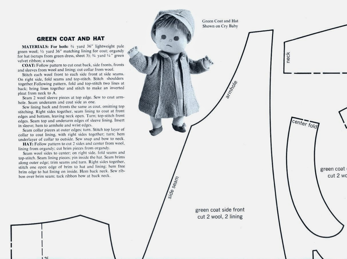 vintage cloth doll patterns baby dolls by joan