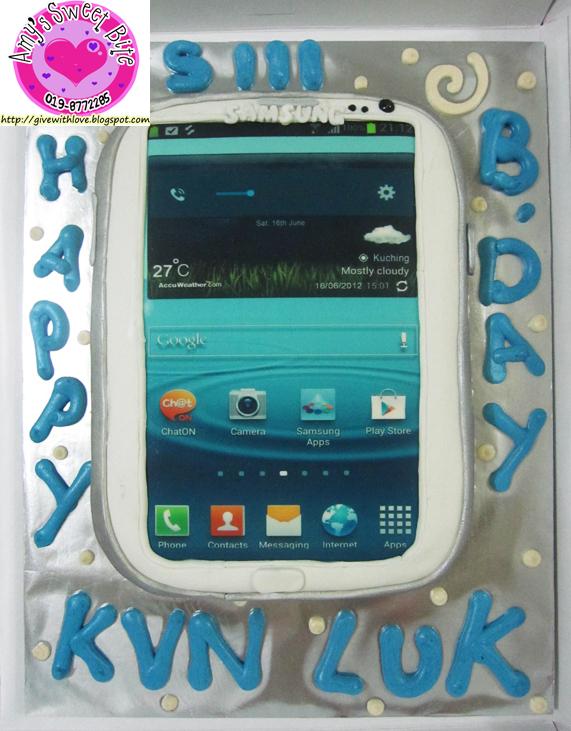 Amys Sweet Bite 3d Birthday Cake Samsung Galaxy Siii
