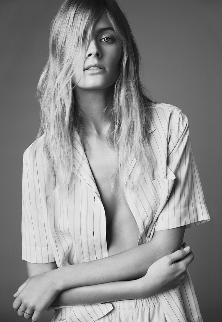 Constance Jablonski photographed by Nick Dorey, styled by Naomi Miller for Twin magazine