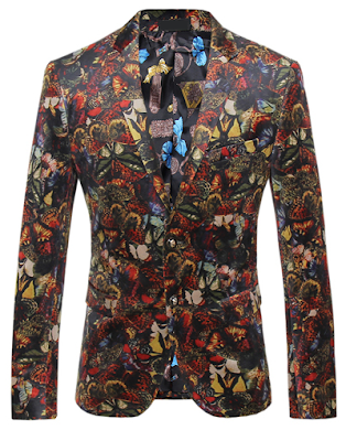 Sophisticated Floral Butterflies Mens Stylish Blazer via PerfectMensBlazers