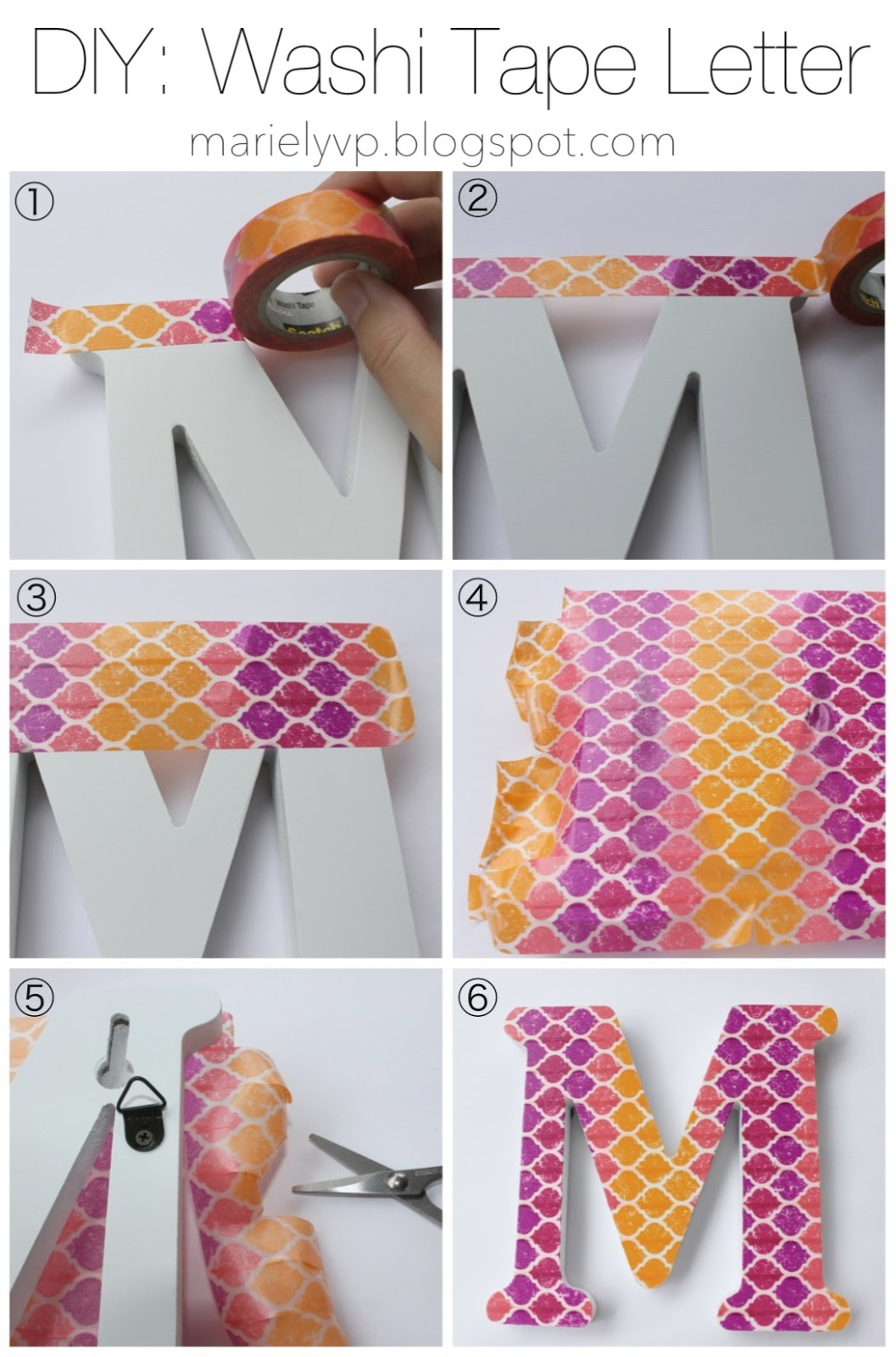Favorito We Read!: DIY: Washi Tape Letter {and key covers} NV19