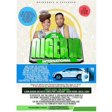 "MR. & MISS. NIGERIA INTERNATIONAL 2016 ""PAGEANT"""