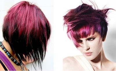 purple hair color style trend for winter 2012