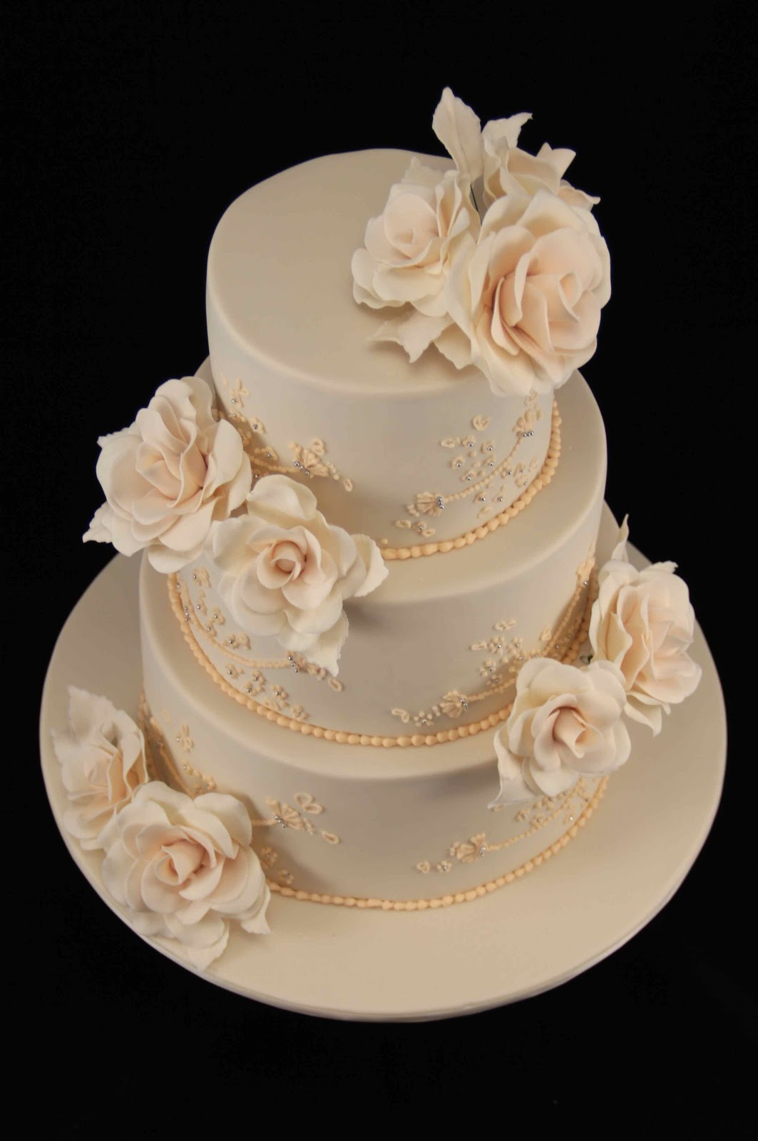 Cake Images Rose : Bakerz Dad: Rose Wedding Cake