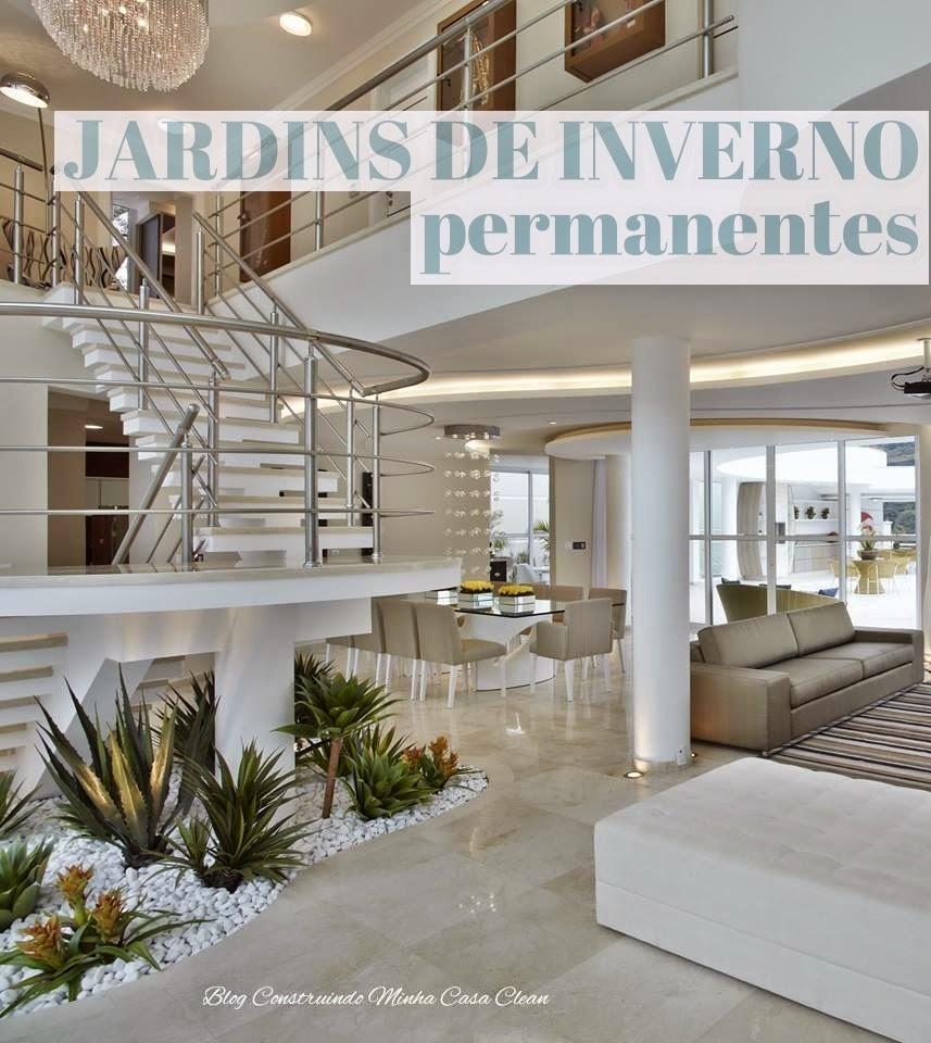 Casa Clean Jardim de Inverno Permanente! Com Plantas Artificiais
