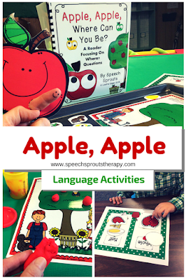 Apple Apple Where Can You Be? Reader and language activities by Speech Sprouts