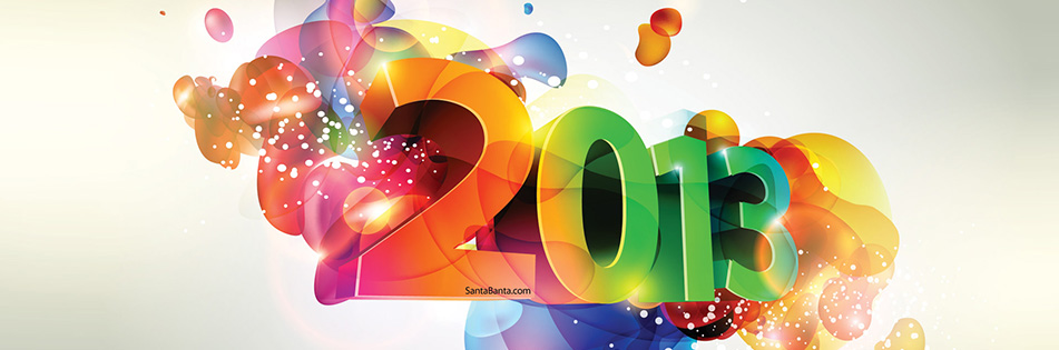 3D Colorful Happy New Year