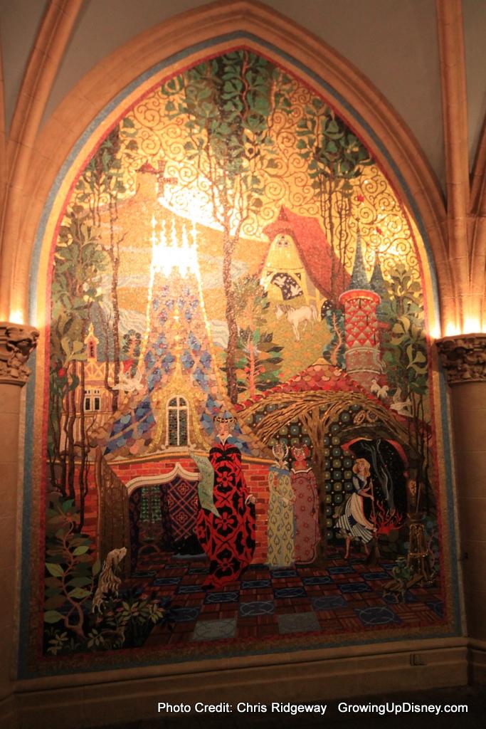Growing up disney photo flashback cinderella 39 s stepsisters for Cinderella castle mural