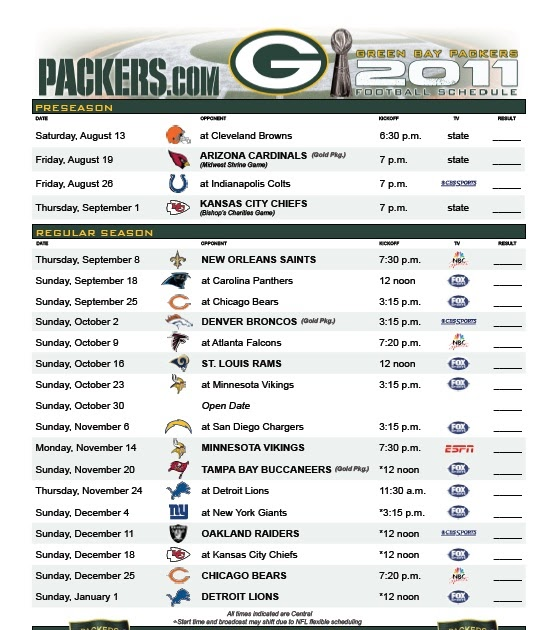 Genius image in green bay packers printable schedule