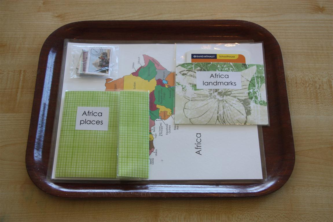 Africa Places Tray  (Photo from Counting Coconuts)
