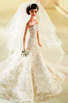 Model Gaun Pengantin ala Barbie