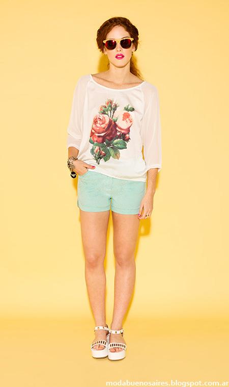 Sans Doute primavera verano 2015 moda shorts y blusas de verano.