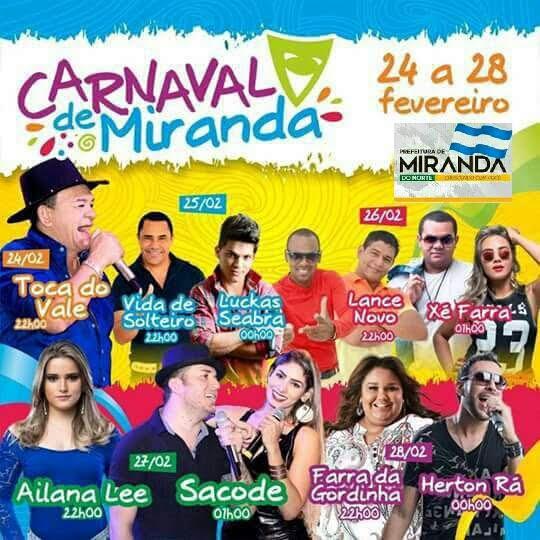 PROGRAMACAO - Carnaval em Miranda do Norte-MA