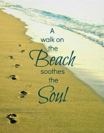 Walk on the beach quote. Print.