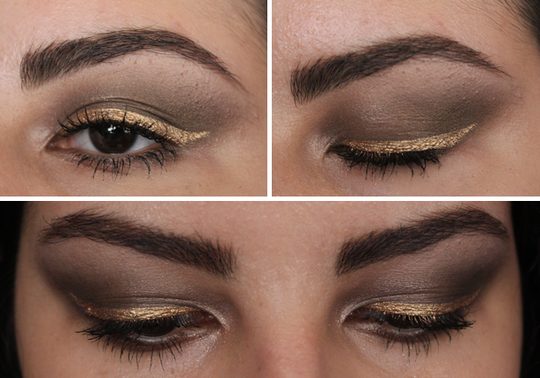 diy gold eyeliner mac mixing medium urban decay
