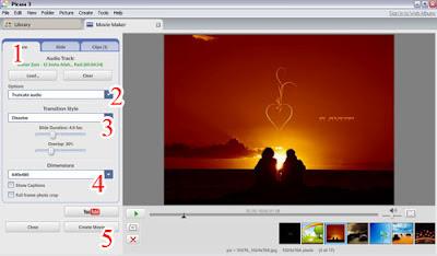 Membuat Foto Menjadi Video dengan Picasa2