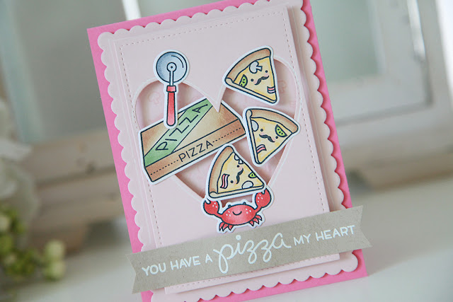 NEW! Pizza My heart, Stitched Heart Stackables, and Heart Stackables--Lawn Fawn