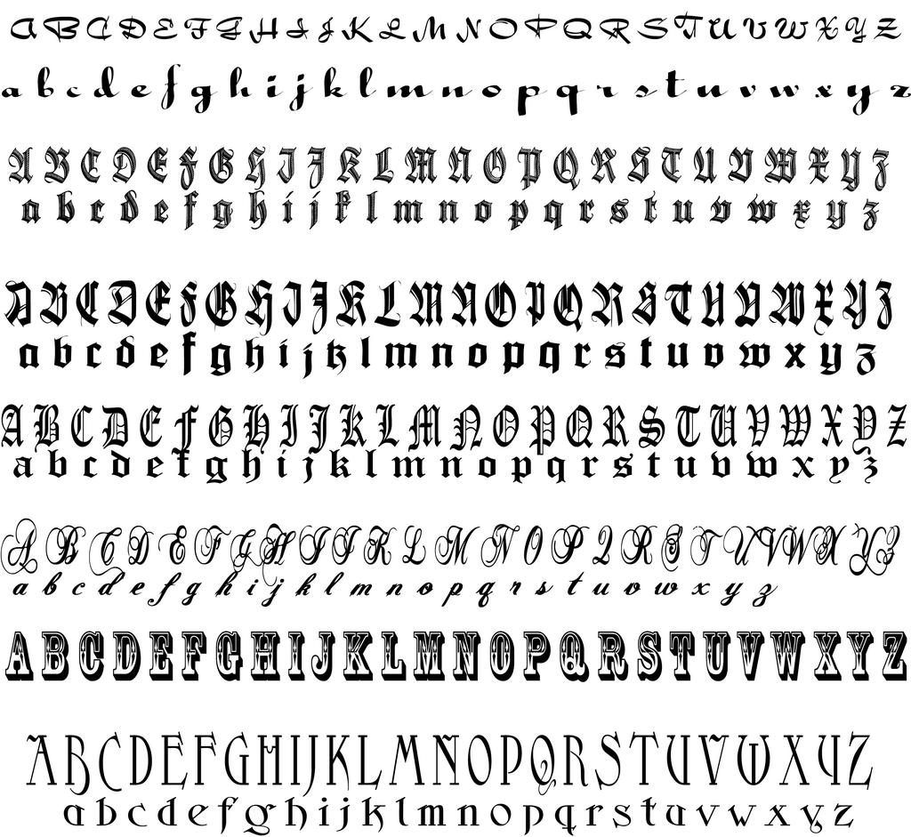 Calligraphie hébraïque Hebrew Calligraphy Alphabet  - Tatouage Alphabet Calligraphie