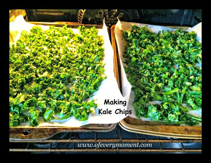 roasting kale, recipe