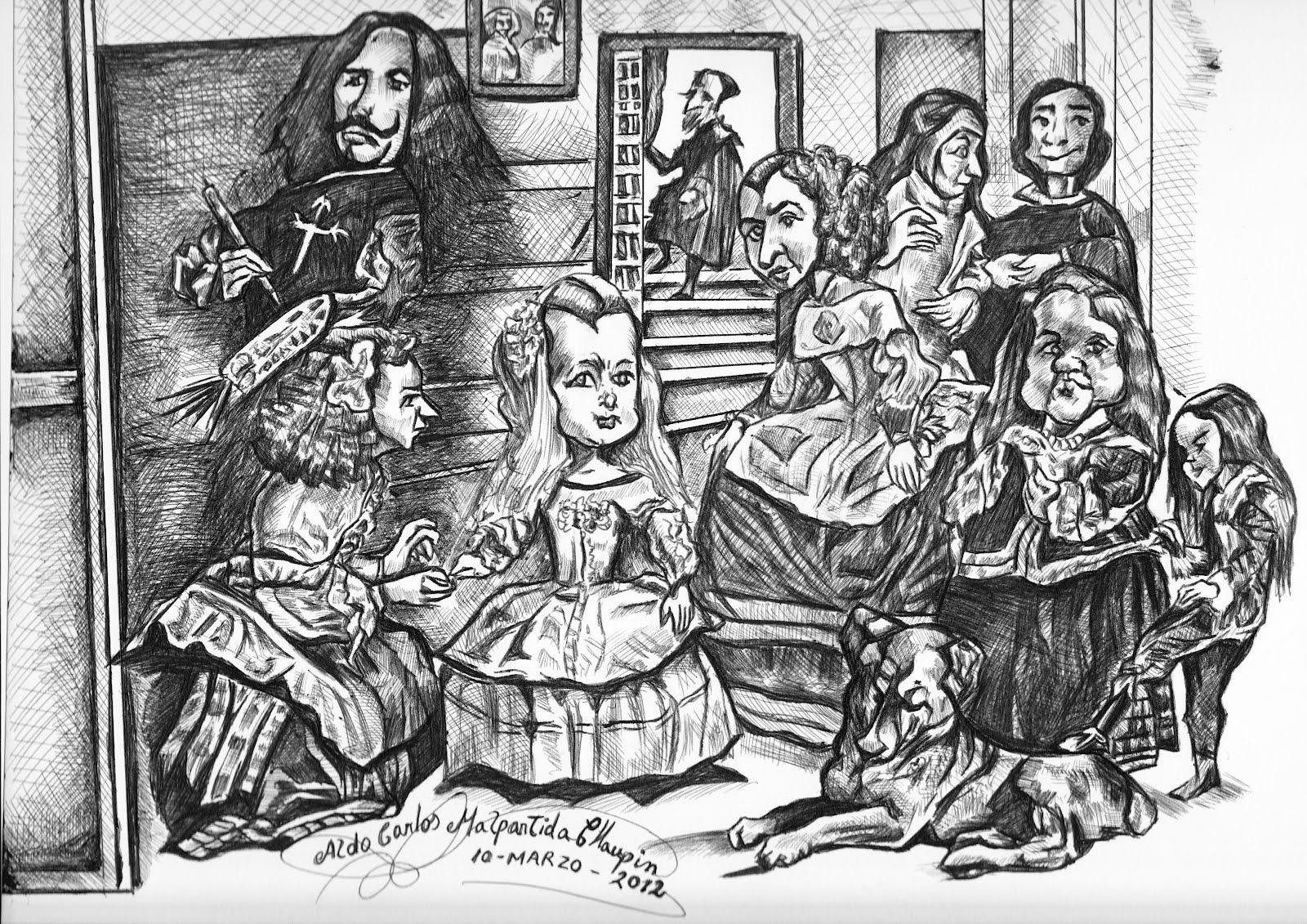 Aldo dibujo pintura y artes caricatura del cuadro las - Cuadros de meninas modernos ...
