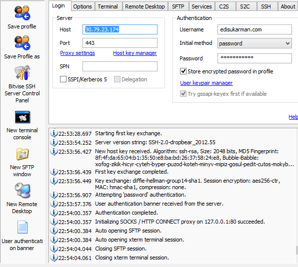 Free SSH USA 16 September 2014