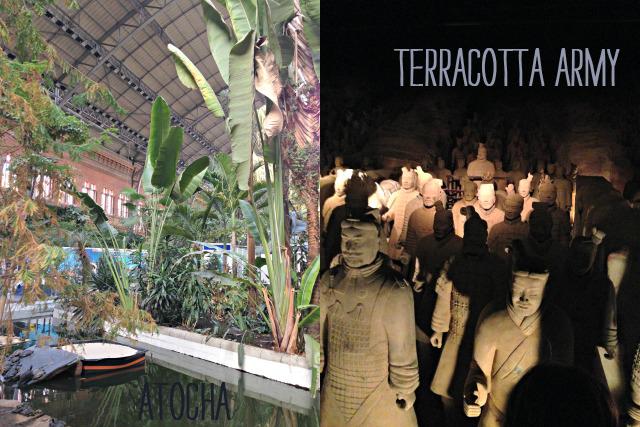 Bahnhof Atocha und Terracotta Army Ausstellung unterwegs mit Kindern in Madrid