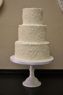 Sweet Cakes by Rebecca - Buttercream Rose Wedding Cake