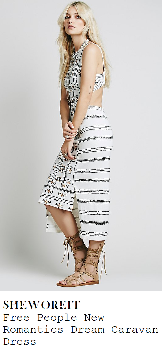 perrie-edwards-white-embroidered-aztec-stripe