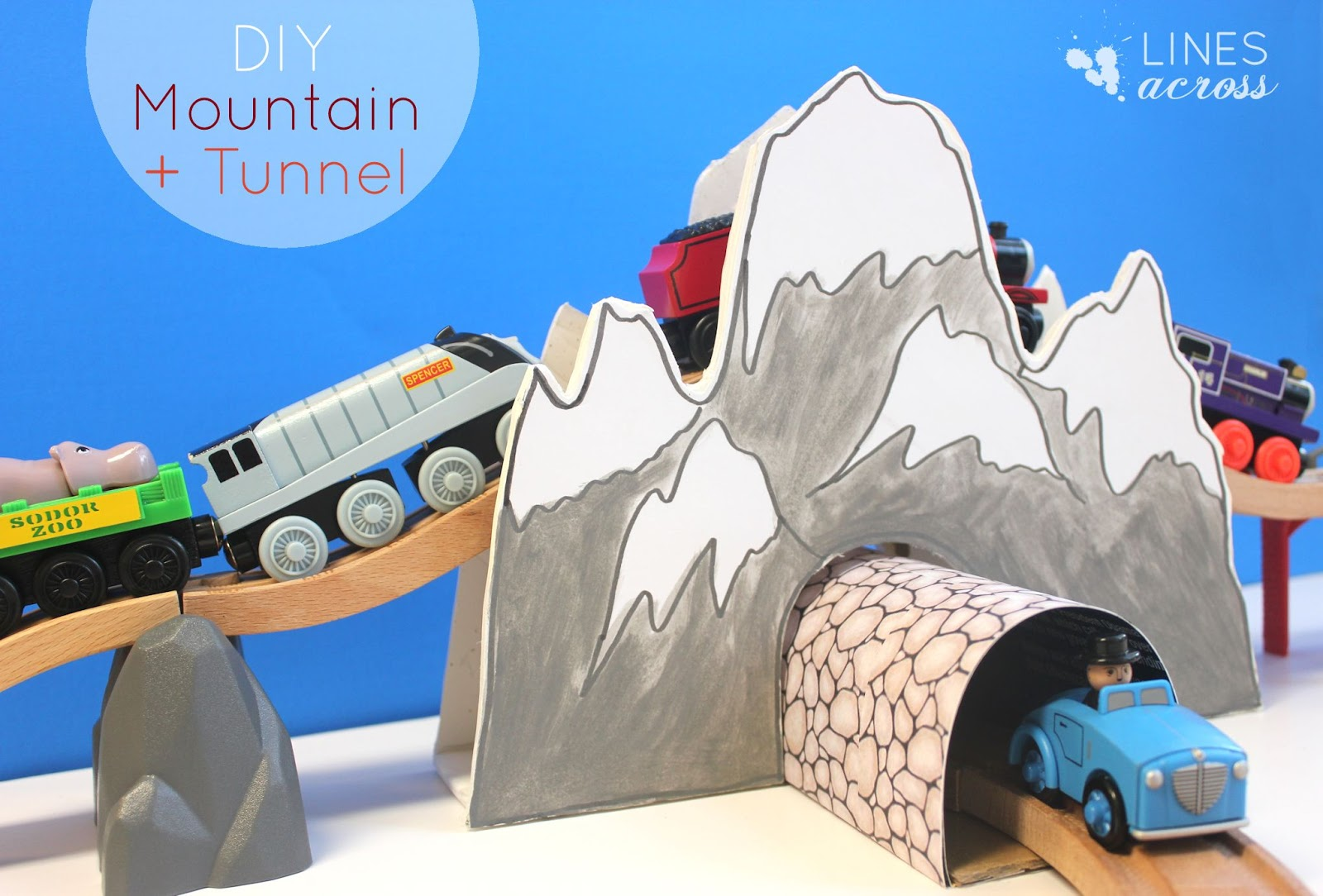 make your own train tunnel and mountain lines across. Black Bedroom Furniture Sets. Home Design Ideas