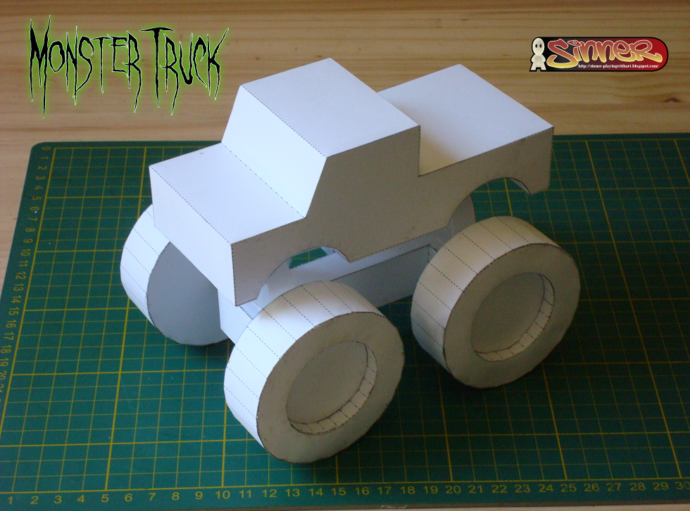 Monster Truck Paper Toy
