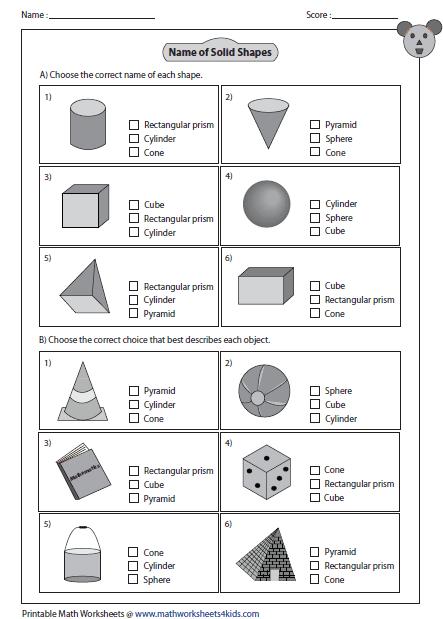 3d shape worksheets for grade 3