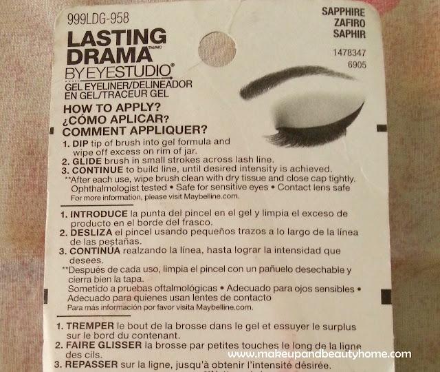 Maybelline Eyestudio Lasting Drama Gel Eyeliner Sapphire ...