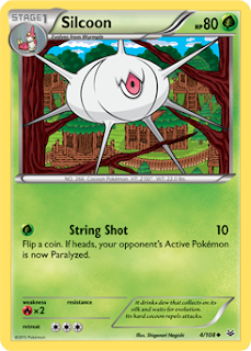 Silcoon Roaring Skies Pokemon Card
